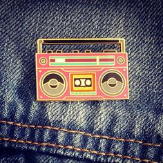 A little 80's throwback for the weekend! #enamelpin #pinsanity #pins #pinstagram #pingame #lapelpin #boombox #music #80smusic #ghettoblaster #lapelpins #amazonprime