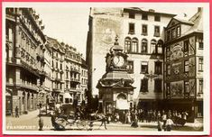 Postcards of Frankfurt am Main, photos and other Frankfurt items. Frankfurt, Maine, Postcards, Street View, City