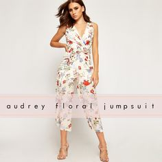 c965f5230580 Audrey Wrapover V-Neck Floral Sleeveless Jumpsuit