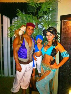 Princess Jasmine and Aladdin Family Couple disney Costume! Instagram- MissAndreaG