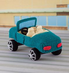 crochet convertible car pattern from the book Honk! Beep! Vroom!