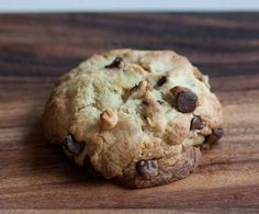 """Levain chocolate chip cookies clone recipe!  """"In my personal experience comparing the two cookies side by side, using the bread flour, European butter and convection oven helped make the cookies more like their namesake, but those three things aren't critical. """""""