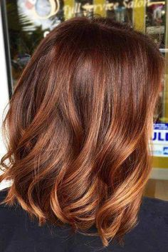 cinnamon red hair color trend in trendy hairstyles and colors blue ombre hair; Brown Hair With Blonde Highlights, Blond Ombre, Dark Red Hair, Brown Ombre Hair, Brown Blonde Hair, Light Brown Hair, Hair Highlights, Red Ombre, Dark Brown