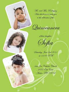 Quinceanera Photo Invitation by cecydesigns on Etsy, $18.00