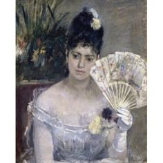 Young Lady at a Ball (Jeune Fille au Bal) 1875 Berthe Morisot (1841-1895French) Musee Marmottan Paris Canvas Art - Berthe Morisot (24 x 36)
