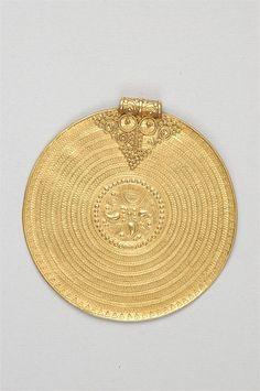 Religious Gold Circle Hemse Gotland Sweden Sverige Iron Age Viking Era. Statens Historiska Museum