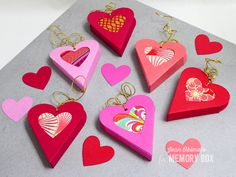 Heart gift boxes are a great way to wrap small gifts or treats 99954 Heart Gift Box craft die
