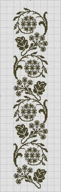 This Pin was discovered by Lil Crochet Bookmarks, Cross Stitch Bookmarks, Cross Stitch Borders, Cross Stitch Flowers, Cross Stitch Designs, Cross Stitching, Cross Stitch Embroidery, Embroidery Patterns, Hand Embroidery