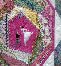 Linda Steele. Great combination of beads, stitches & quilting