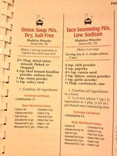make taco seasoning Homemade mixes copycat low sodium Lipton onion and taco seasonings Homemade mixes copycat low sodium Lipton onion and taco seasonings Homemade Dry Mixes, Homemade Spices, Homemade Seasonings, Homemade Chili, Low Salt Recipes, Low Sodium Recipes, Cooking Recipes, Diet Recipes, Kidney Recipes