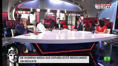 """PROGRAMA COMPLETO Al rojo vivo  Luis De Guindos niega que España esté negociando un rescate y anuncia más recortes: """"El Gobierno tiene una hoja de ruta de reformas que seguirá aplicando"""". Debatimos también acerca del rescate de 5.023 millones solicitado por Cataluña y hablamos en directo con Laura Mintegi, candidata de EH Bildu a lehendakari. http://www.lasexta.com/lasextaon/alrojovivo/completos/al_rojo_vivo__de_guindos_niega_que_espana_este_negociando_un_rescate/654273/1"""