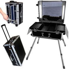 Valise studio make up trolley, Table de maquillage Néons, Noire