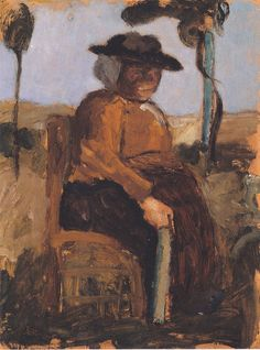 The Athenaeum - Study of a Woman Seated in the Garden (Paula Modersohn-Becker - )