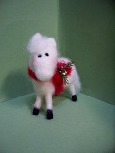 Miniature Horse 4 Felted Wool Ornament  NEW by WhimsicalWoolies, $24.00