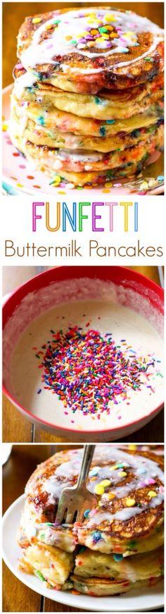 Funfetti Buttermilk Pancakes Recipe