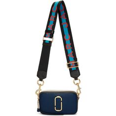Marc Jacobs Navy And Black Snapshot Bag In Women Mark Jacobs Bag, Marc Jacobs Handbag, Marc Jacobs Snapshot Bag, Leather Shoulder Bag, Shoulder Bags, Fashion Bags, Purses And Bags, Shoe Bag, Handbags