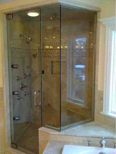 Binswanger Glass is an industry leader in designing, engineering and installing Neo-Angle Glass Shower enclosures that add character, while saving space. Steam Shower Enclosure, Glass Shower Enclosures, Glass Shower Doors, Steam Showers, Armoire, Locker Storage, Door Handles, Chicago