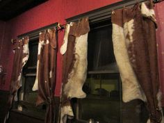 cowhide curtains at Far Western Tavern by thejab, via Flickr Another reason why I love coming here, it reminds me of a place my grandparents would have eaten at and the decor is just western