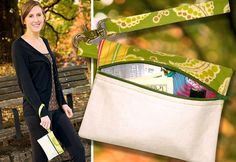 How to make a Wristlet Bag - with really good instuctions on how to insert a zipper.