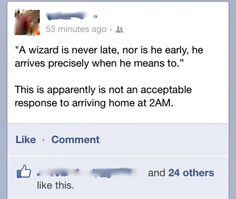 Not an acceptable response, means to, wizard