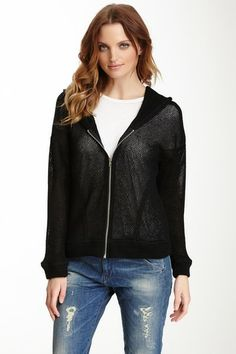Bobeau Cozy Knit Zip Sweater by Non Specific on @HauteLook.  I love how its a sort of mesh