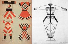 Left – sports clothing designs by Varvara Stepanova, right – workwear design by Alexander Rodchenko. The enormous influence of Russian constructivism ...