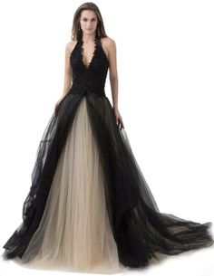 Ball gown with halter beading by ésoldé Grad Dresses Short, V Neck Prom Dresses, Gala Dresses, Necklines For Dresses, Dresses For Sale, Wedding Dresses, Dresses 2014, Gown Wedding, Evening Dresses