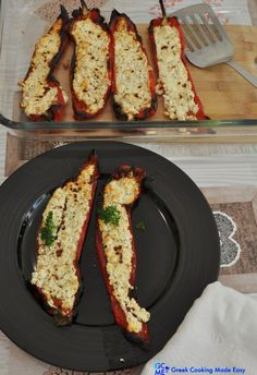 Have you ever tried the combo of feta, baked with red, sweet peppers? If not, you certainly must. Α dish w/just 5 ingredients, wickedly delicious and so easy to prepare that you can't mess it up. #peppersstuffed #stuffedpeppers #πιπεριεςγεμιστες #greekcooking #therecipeoftheday #syntaghthshmeras #keepcooking #Eatgreek #greece #greek #greekrecipes #hereismyfood #delicious #homecooking #συνταγες #greekfood #lovetocook #greekyoutuber #greekdiet#greekblogger #ελληνικηκουζινα #mediterraneanstyle Greek Diet, Eat Greek, Greek Cooking, Allrecipes, Avocado Toast, Feta, Stuffed Sweet Peppers, Mediterranean Style, Savoury Dishes
