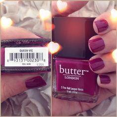 Butter London - Queen Vic ~ EG Nails It <<< have to have it ! Butter London Nail Polish, New Nail Polish, Nail Polish Designs, Nail Designs, Hair And Nails, My Nails, Queen Vic, London Nails, Nail Envy