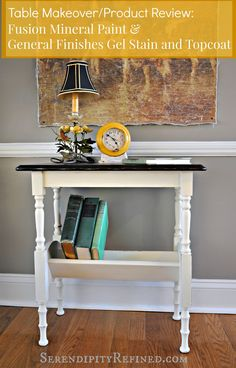 Painted Furniture Makeover Java Gel and Fusion Mineral Paint Product Review and Tutorial by Serendipity Refined.