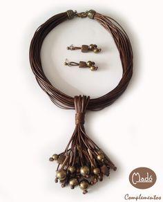 Madó Luaces : Conjunto de collar y pendientes