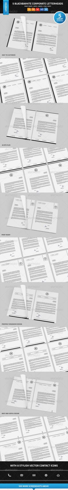 Corporate Letterhead Vol14 with MS Word DOC DOCX by nazdrag - ms word letterhead templates free download