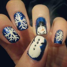 My diy winter nails :)