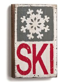 Loving this 'Ski' Wood Wall Art on #zulily! #zulilyfinds