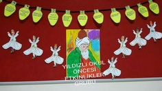 Mevlana haftası semazen boyama okul öncesi etkinlik değerler eğitimi