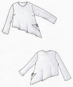 Kombi-Schnittmuster Lagenlook Shirt Katmandu Gr XL