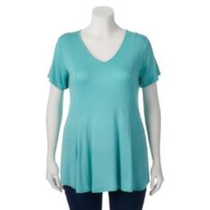 Juniors'+Plus+Size+About+A+Girl+Swing+Tunic