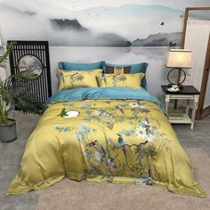 Comforter Cover, Bed Duvet Covers, Duvet Cover Sets, Egyptian Cotton Duvet Cover, Cheap Bedding Sets, Flat Bed, Chinoiserie Chic, Luxury Bedding, Bed Sheets
