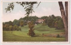 "Pittsfield Mass Postcard ""Holmesdale"" Oliver Wendell Holmes Mansion 1920s Unused"
