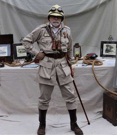 I was appearing as my character who time traveled to the future and donated one of my pieces of art to help the Zoo. Safari, Lucy Fashion, Mens Fashion, Historical Emporium, Adventure Aesthetic, Steampunk Couture, Hunter Outfit, Period Outfit, Dieselpunk