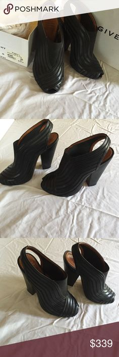 Givenchy Open Toe Sling Givenchy black open toe sling. Size 6US 36EU. Great condition. Original packaging. Givenchy Shoes Heels