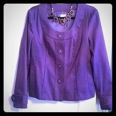 Halogen jacket Gorgeous purple jacket. I am having a hard time letting it go because I never got the chance to wear it. Halogen Jackets & Coats Blazers
