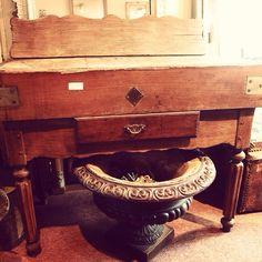Antique butchersblock french 1900 oak hubertantiques.co.uk