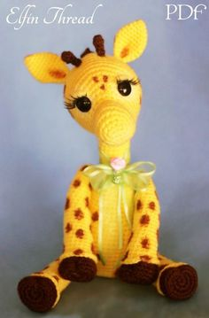Elfin Thread Josephine the Giraffe PDF Amigurumi by ElfinThread