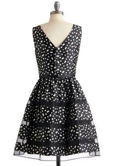 Rosé Bubbly Dress in Noir | Mod Retro Vintage Dresses | ModCloth.com