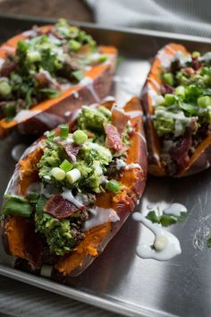 Try this AIP and Mexican-inspired take on a loaded baked potato and I promise you won't even miss the real deal! I've topped these beauties with taco meat, bacon guac, and lime coconut-cream — a combination that is sure to kick your hunger to the curb as well as make your taste buds go wild! If you are worried about the steps involved in ...