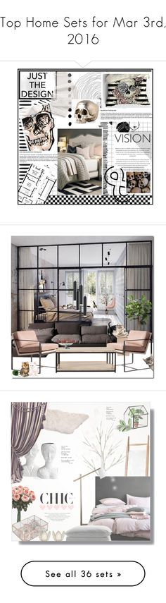 """""""Top Home Sets for Mar 3rd, 2016"""" by polyvore ❤ liked on Polyvore featuring interior, interiors, interior design, home, home decor, interior decorating, bedroom, Distinctive Designs, Home Decorators Collection and Sonneman"""