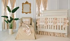 Like the Regency design movement, this nursery offers elements taken from nature, ornate touches, and elegant patterns.  It's gorgeous and lavish without being overbearing.