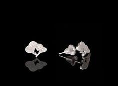 Thunder.Rain.Cloud Inspired Silver Earrings - $30 http://www.muwae.com/shop/thunderraincloud-inspired-silver-earrings