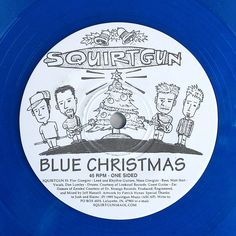 Squirtgun Blue Christmas 1995 Punk 7in Colored Vinyl Record One Song Both Sides #Christmas